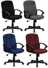 NEW! MID-BACK MANAGERS SWIVEL TILT HOME OFFICE COMPUTER DESK CHAIRS 4 FABRICS