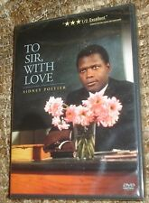 To Sir, With Love (DVD, 2000, Widescreen), NEW & SEALED, REGION 1,SIDNEY POITIER