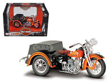1947 HARLEY DAVIDSON SERVI-CAR W SIDE CAR BLK/OR 1/18 MOTORCYCLE BY MAISTO 03179