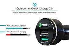 3.0 Qualcomm QC quick car charger, High speed,IPhone 2 USB ports,Ships From USA
