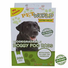 200 Dog Puppy Doggy Biodegradable Scented Poo Bags Pet Pals Poop Dispose