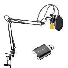 Neewer Gold Studio Broadcasting Recording Condenser Microphone and Arm Stand Kit
