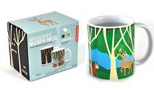 Kikkerland Animal Bosque Morph Taza De Cerámica De Calor cambiantes, tazas, té café taza