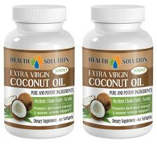 Coconut Oil Extra Virgin 3000mg Medium Chain Fatty Acids (2 Bottle 120 Softgels)