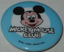 "1977 Mickey Mouse Club Pin w/ Light Blue Ring 1.25"" Walt Disney Productions"