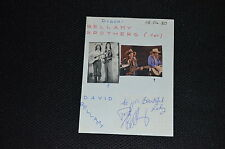 DAVID BELLAMY signed Autogramm Albumblatt In Person BELLAMY BROTHERS