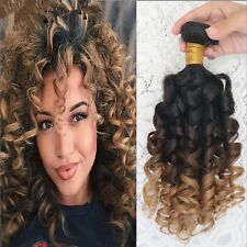 300g/3bundles unprocessed ombre brazillian spiral curls virgin human hair 16inch