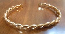 Small Gold Plated Open Horseshoe Braided Bracelet Children Kids Jewelry