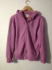 GAP Cotton Jersey Hooded Jacket Size S Pink Zip Front  R11752