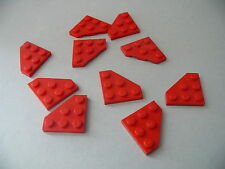 Lego 10 ailerons rouges set 8829 4892 5988 / 10 red plate wedge