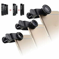 3 In 1 Fish Eye 180º + 0.67X Wide Angle + Macro Lens Kit For For iPhone