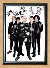 MY CHEMICAL ROMANCE Black Parade Signed Autographed Music A4 Print Poster Photo