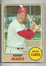 Roger Maris 1968 Topps ML Baseball Trading Card #330