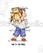 New Stamping Bella Cling Rubber Stamp Talk to the bear little girl  Free us ship