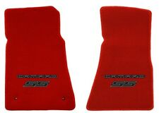 NEW! RED FLOOR MATS 2010-2015 Camaro Embroidered Logo and SS in Black 2 pc SET