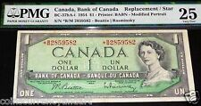 1954 BANK OF CANADA $1 .RADAR REPLACEMENT / STAR  BANKNOTE 2859582