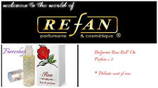 2 x 10ml Refan Bulgarian Rose Roll On Perfume Oil Delicate Feminine Scent