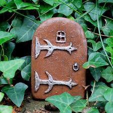 Magical Fairy Doorway Small Miniature Brown Hobbit Elf Door Skirting Board Trees