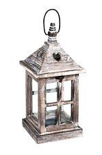 Lanterne en bois 35 cm Chandelier Photophore Lampe de jardin patio neuf
