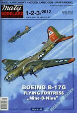 "BOEING B-17G Flying Fortress ""Nine-0-Nine"" - Paper Card Model in 1/33 Scale"
