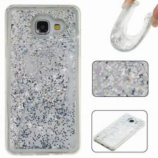 Glitter Bling Hearts Liquid Novelty Colourful Phone Case Fits For iPhone Samsung