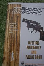 CHARTER ARMS UNDERCOVER .38 SPECIAL SIX PAGE OWNERS MANUAL/PARTS BOOK