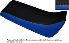 BLACK & ROYAL BLUE CUSTOM FITS YAMAHA BLASTER 02-04 DUAL LEATHER SEAT COVER ONLY