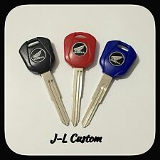 99-15 Blank Key Uncut Blade Honda CBR1000RR 1100XX CBR600RR F4 Red,Blue Or Black