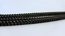 """MENS SOLID HEAVY BLACK 6mm THICK 36"""" STAINLESS STEEL FRANCO CHAIN NECKLACE"""