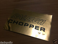 RALEIGH CHOPPER MK 2 SEAT PLATE DECAL - SHINY GOLD - CHOPPER SEAT STICKER