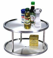 Cook N Home 10-1/2-Inch 2 Tier Lazy Susan GRMS  NC-00213 FREE SHIPPING NEW