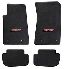 NEW! BLACK FLOOR MATS 2014-2015 Camaro Embroidered Logo SS in Red Full set of 4