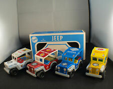 Payva Ref 500 JEEP boite revendeur de 4 Tin Friction toy 10,5 cm made in spain