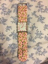 Betsey Johnson Floral Watch Pink Baby Buds Leather Band