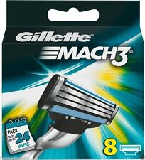 8  PCS GILLETTE MACH3 SHAVING RAZOR CARTRIDGES BLADES - USA Seller USPS Shipping