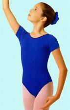 Mondor 496 Child's Large (10-14) Royal Blue Short Sleeve Leotard