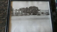 Vintage 8x10 Photo, MOBIL GAS STATION, GARAGE, TOW TRUCK