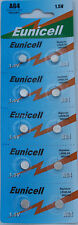 10 X EUNICELL AG4 SR626SW G4A LR626 LR66 1.5V BUTTON CELL WATCH BATTERIES
