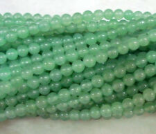 "Wholesale 5 Strands Natural 4MM Green Emerald Round Gem Loose Bead 15"" LL008"