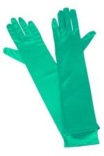 Ladies' Gloves Satin 40 cm in mint green classy sexy long luxury Accessory