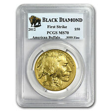 2012 1 oz Gold Buffalo Coin MS-70 PCGS FS Black Diamond - SKU # 68075