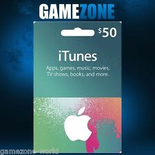 ITunes GIFT CARD $50 USD USA Apple iTunes codice voucher 50 DOLLARI STATI UNITI