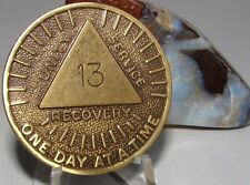 "Alcoholics Anonymous AA 13 year ""Sunshine"" Bronze Medallion Token chip Coin"