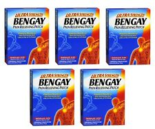 5 Pack - BENGAY Pain Relieving Patches Ultra Strength Regular Size 5 Each