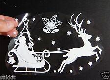 WIEDERVERWENDBAR Rentier Schlitten Santa Weihnachten Glocken Schneeflocken