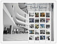 United Nations UN 2012 Guided Tour Personalized Sheet Stamps