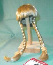 "doll wig blond 11"" to 11.5"" Glorex/Switzerland braids"