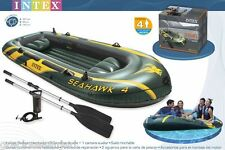 Intex Seahawk 4 Fishing Boat Set- Four Person Inflatable Lake Raft