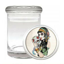 Skull Odorless Air Tight Medical Glass Jar Container D 1 Sugar Candy Skull