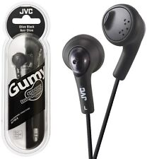 JVC HA-F160-B Gumy Earbuds headphones Bass Boost HAF160 Black /GENUINE Gummy New